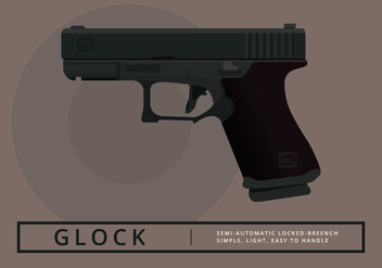 Glock Handgun Illustration - Free vector #404749
