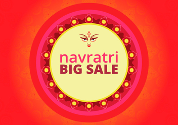 Navratri Big Sale Illustration - vector gratuit #404779