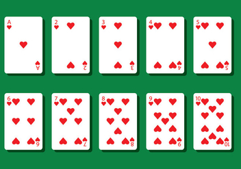 Heart Poker Card Vectors - Free vector #404809