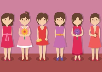 Bridesmaid vector - vector #404839 gratis