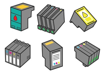 Ink Cartridge Vector - бесплатный vector #404849