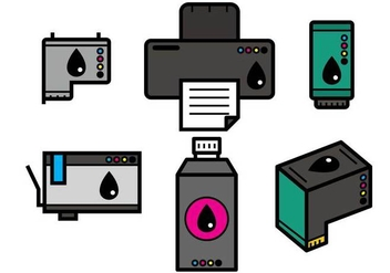 Ink Cartridge Vector - vector #404859 gratis