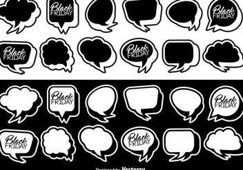 Vector Flat Stickers Of Speech Bubbles - Kostenloses vector #404929