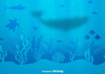 Seabed Vector Background - бесплатный vector #404939