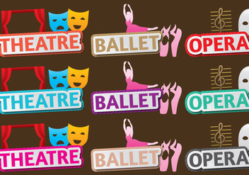 Theater And Ballet Titles - бесплатный vector #404979