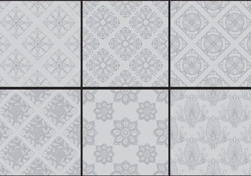 Gray Monochromatic Toile Patterns - vector #404999 gratis