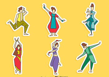 Bollywood Dance Collection Vector - Free vector #405059