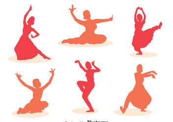 Woman Bollywood dance Vector Sets - Free vector #405099