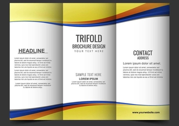 Free Vector Tri Fold Brochure - Free vector #405179