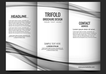Free Vector Tri Fold Brochure - Free vector #405189