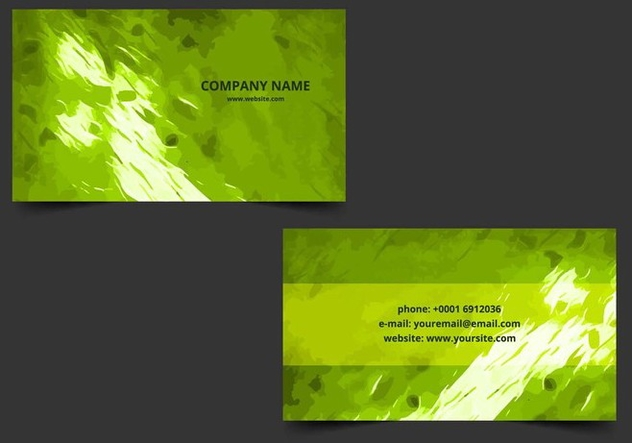 Free Vector Business Card - vector gratuit #405199
