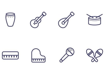 Music Instrument Icon - бесплатный vector #405499