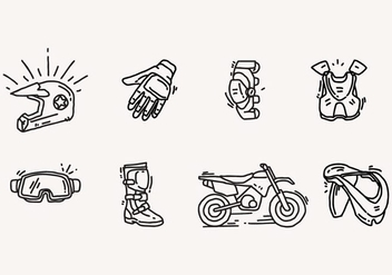 Dirt Bike Icon - Free vector #405529