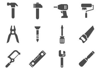 Free Work Tools Icons Vector - vector gratuit #405599