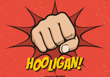 Free Hooligan Fist Vector Background - Free vector #405729