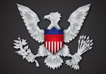 Free Flat Presidential Seal Vector Design - бесплатный vector #405759