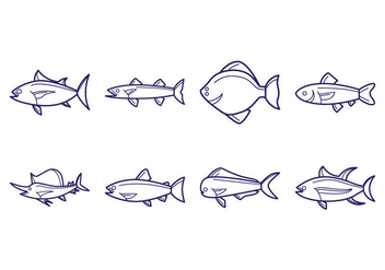 Free Fish Icon Vector - Free vector #405799