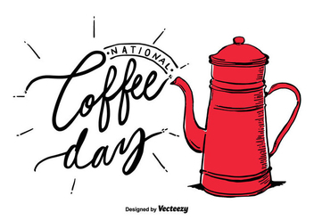 Free National Coffee Day Vector - Kostenloses vector #405879