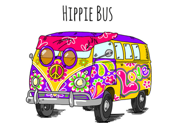 Free Hippie Bus Background - бесплатный vector #405899