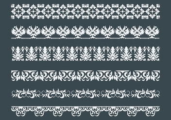 Free Lace Trim Icons Vector - Free vector #405979