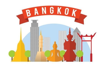 Free Bangkok Vector Illustration - Free vector #406039