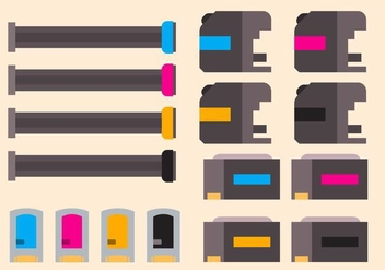 Free Ink Cartridge Vector - vector #406149 gratis