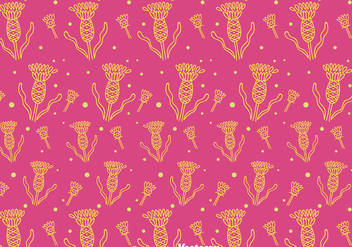 Thistle Seamless Pattern Backgroune - Free vector #406189