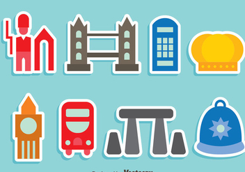 United Kingdom Element Colorful Icons Vector - vector gratuit #406219