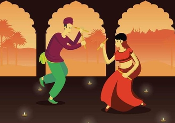 Free Garba Illustration - vector #406289 gratis
