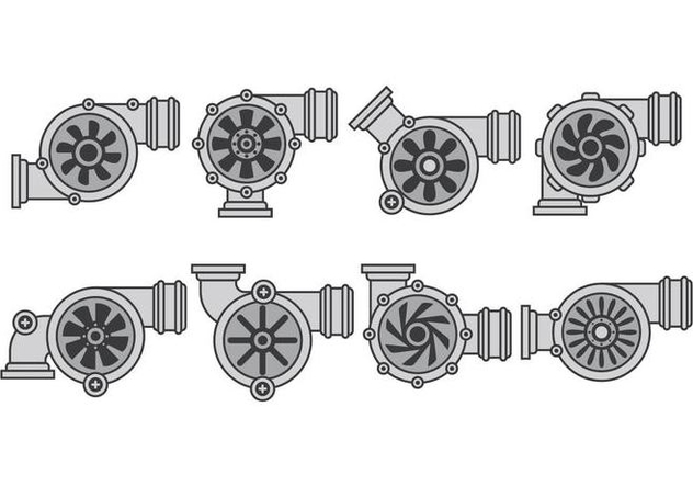 Turbo Charger Icons - Free vector #406299