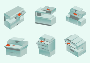 Photocopier modern photocopy machine flat design - vector gratuit #406339