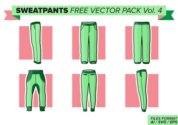 Sweatpants Free Vector Pack Vol. 4 - бесплатный vector #406369