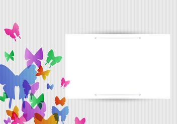 Vector Butterflies Background Design - Free vector #406459