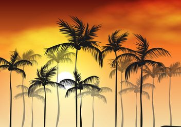 Palm Branches Palm Sunday Background - vector gratuit #406499