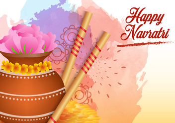 Happy Navrati Illustration - Kostenloses vector #406569