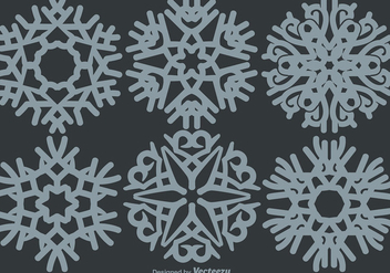 Classic Snowflakes Set - Free vector #406589