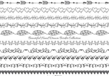 Cute Hand Drawn Style Border Collection - Kostenloses vector #406649