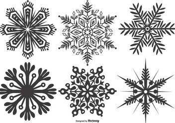 Abstract Snowflake Shape Collection - Free vector #406659