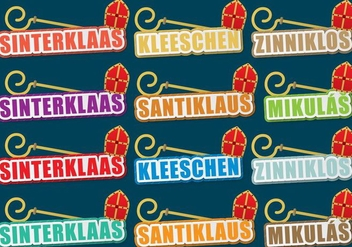 Sinterklaas Titles - vector gratuit #406749