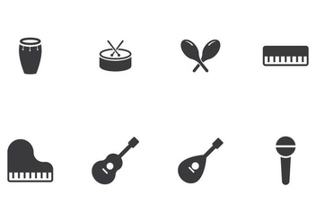 Music Instrument Icon - vector #406769 gratis