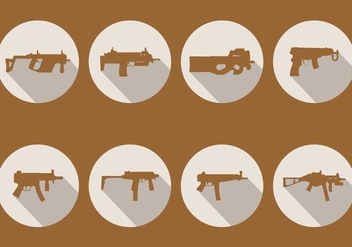 Sub Machine Gun Vectors - бесплатный vector #406789