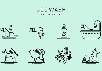 Dog Wash Icons - vector #406819 gratis