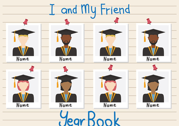 Year Book Vector - vector gratuit #406899