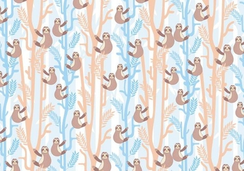 Sloth Pattern Vector - vector gratuit #406959