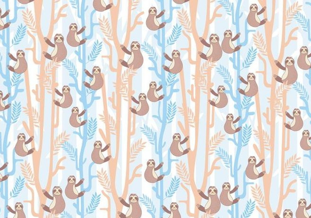 Sloth Pattern Vector - Free vector #406959