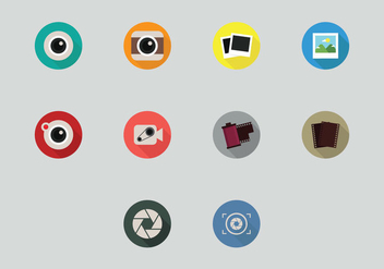 Camara Mobile Icon Set - vector gratuit #407009