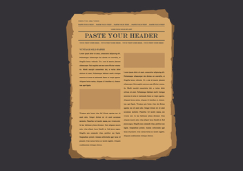 Old Newspaper Illustration - vector #407019 gratis