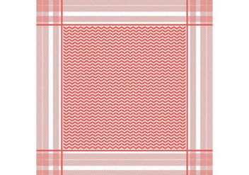 Keffiyeh Red Seamless Pattern - vector gratuit #407069