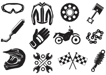 Dirt Bike Gear - vector gratuit #407109