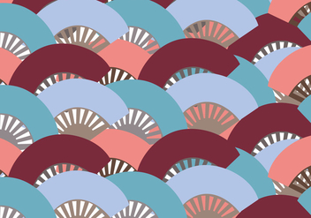 Colorful Spanish Fan Pattern - vector gratuit #407219